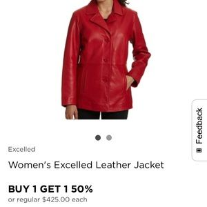 Red jacket 100 percent genuine leather from Macy's